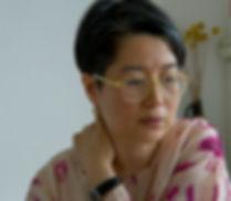 Artist Asako Iwama in her home