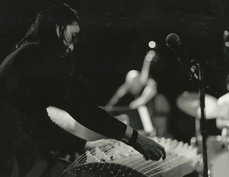Photograph of koto player Michiyo Yagi taken by Katherine Whatley