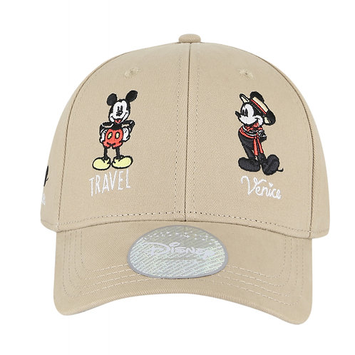 Disney Mickey Mouse Travel Baseball Cap with Embroidered Logo