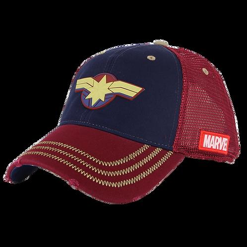 Marvel Avengers Captain Marvel Mesh Crown Baseball Cap
