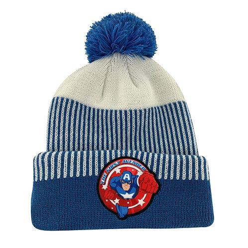 Marvel Avengers Captain America Pom-Pom Beanie Hat
