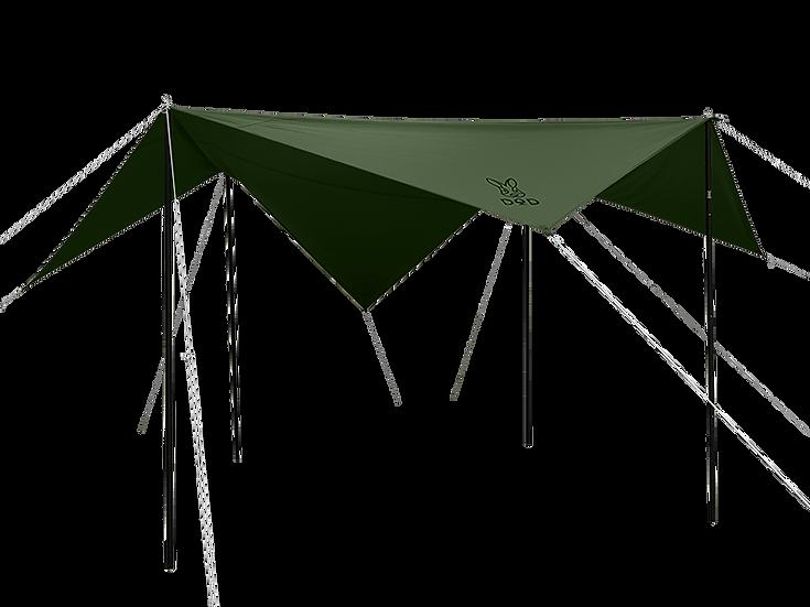 DoD CHEESE TARP (S) Khaki ชีสทาร์ป S สีเขียว กากี
