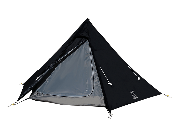 DoD ONE POLE TENT (M) สีดำ 5p