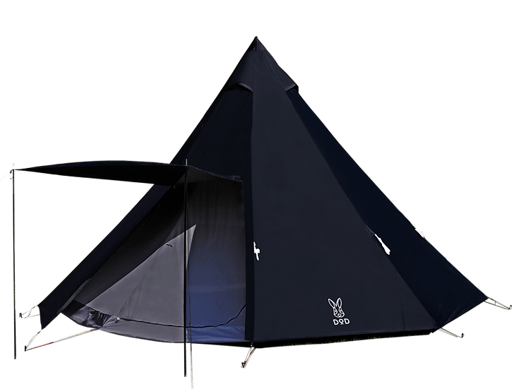 DoD ONE POLE TENT(L)สีดำ 8p
