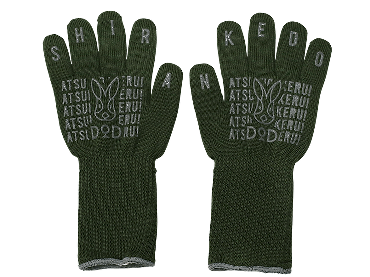 DoD Camp Glove Khaki สีเขียว ATSUI-NO-IKERU SHIRANKEDO