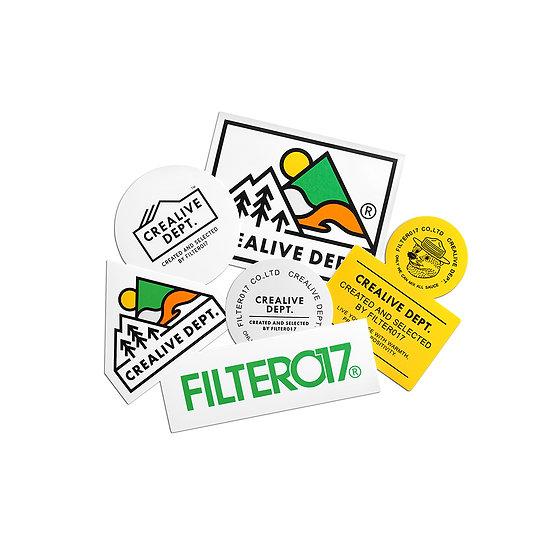 Filter017 CREALIVE DEPT. Mountain Peak Logo Sticker Pack