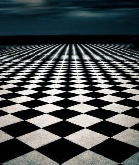 Il simbolo del pavimento a scacchi