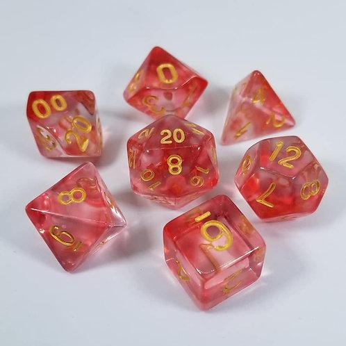 Red Mystic Shard Dice Set