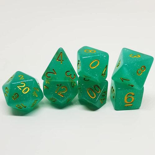 Fey Glamour 7 die set polyhedral dice