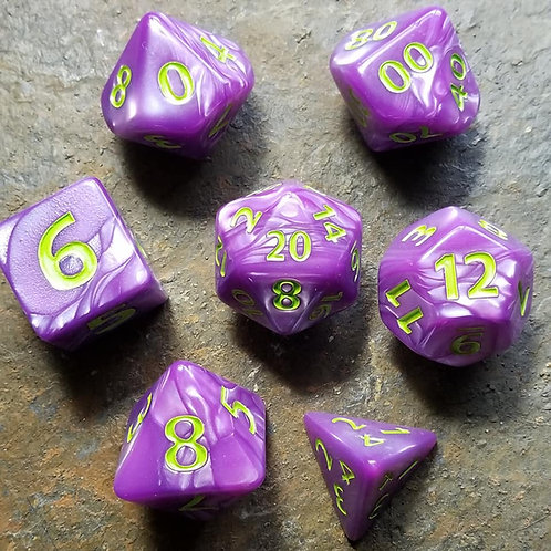Colossal Purple Polyhedral Dice Set