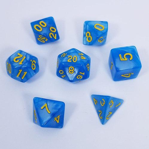 Cloud Giant Blue Polyhedral 7-Die Dice Set