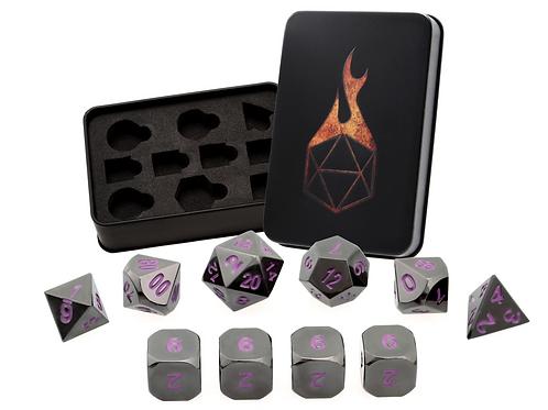 Iron Orchid 7 Metal Dice Set