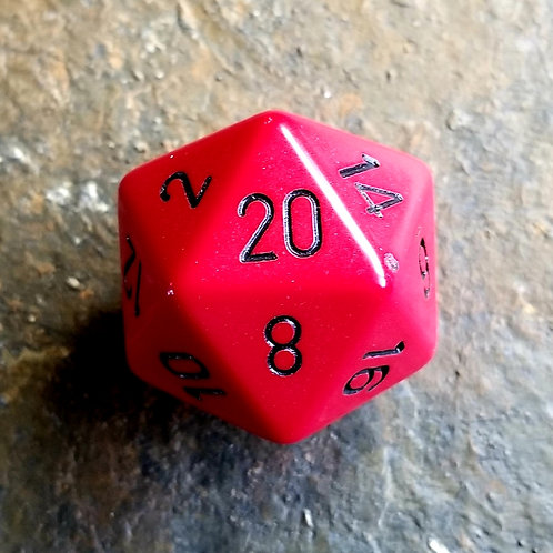 Red 32mm Giant d20