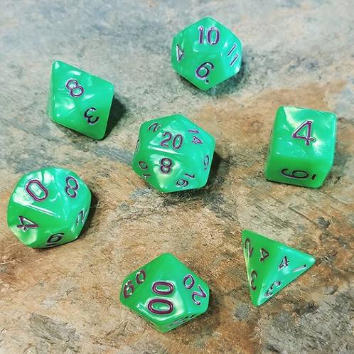 Gamma Green Polyhedral 7-Die Dice Set