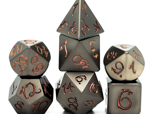 Lava Dragon Metal Dice Set