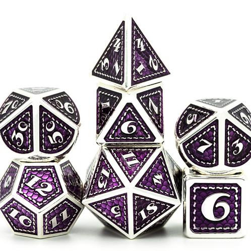 Purple Gem Dragon Metal Dice Set
