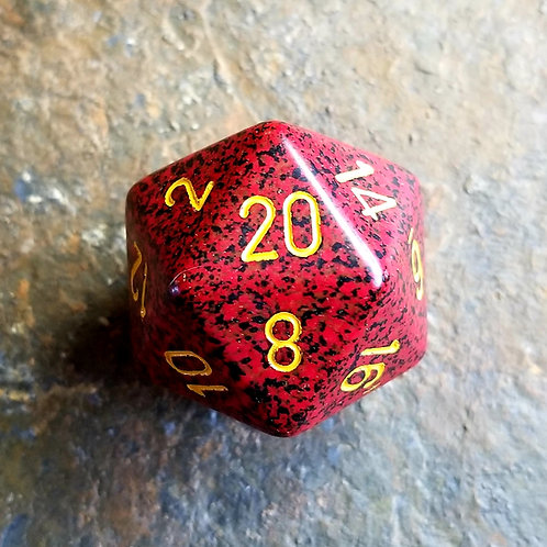 Red Flecked 32mm Giant d20