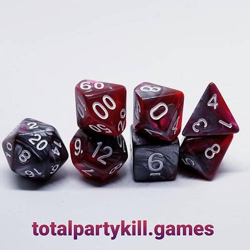 Ruby Ore Dice Set