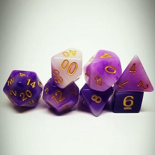 Purple Reign 7 Die Set Polyhedral Dice
