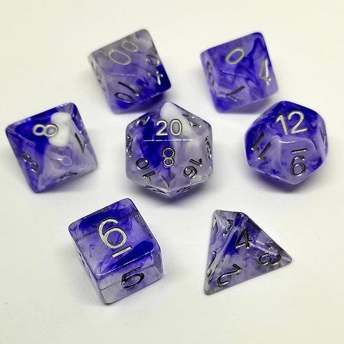 Smoky Blue Dice Set