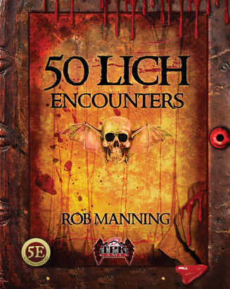 Loathsome Lich Encounters DTRPG COVER_Pa
