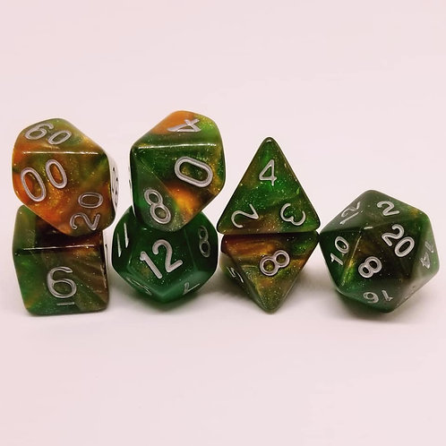 Autumn Order 7 Die Set Polyhedral Dice