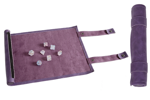 Purple Leather Dice Scroll
