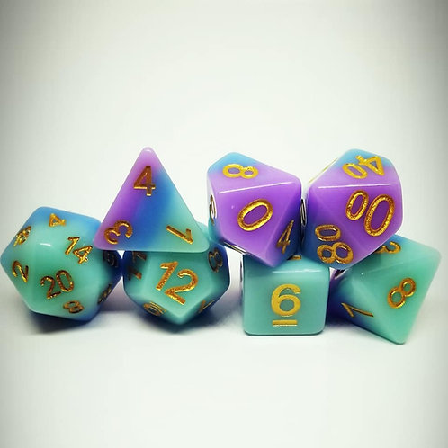 Enchanted Slumber 7 Die Set Polyhedral Dice