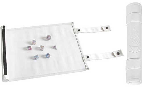 White Leather Dice Scroll