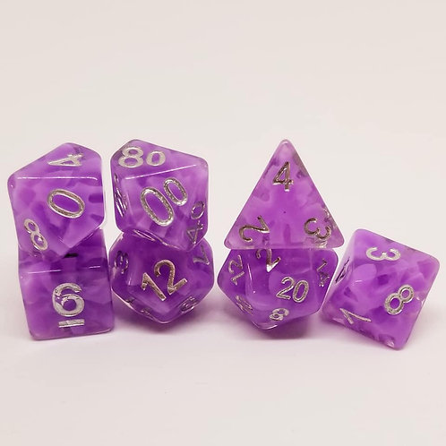 Purple Haze 7 Die Set Polyhedral Dice