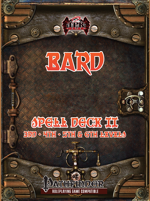 Bard Spell Card Deck II (3rd - 6th)