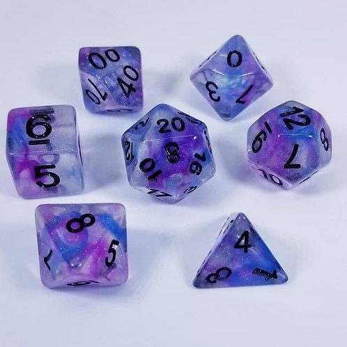 Nebulous Galaxy Dice Set