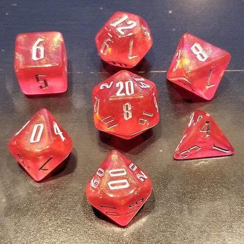 Shimmering Red Dice Set