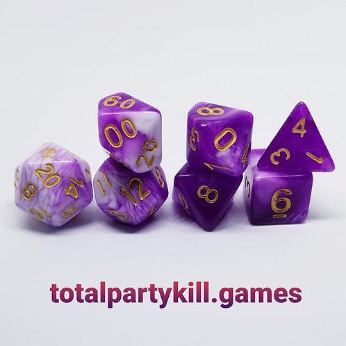 Violet Soulstorm Dice Set
