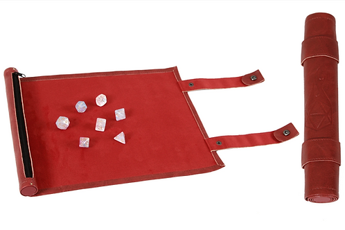 Red Leather Dice Scroll