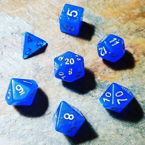 Blue Ice Polyhedral 7-Die Dice Set