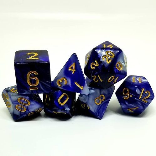 Indigo Dream Polyhedral 7-Die Dice Set
