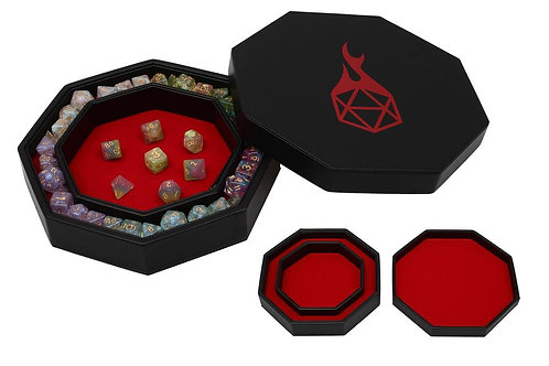 Red Arena Dice Tray and Storage
