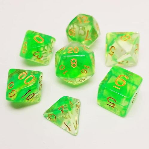 Gelatinous Cube Dice Set