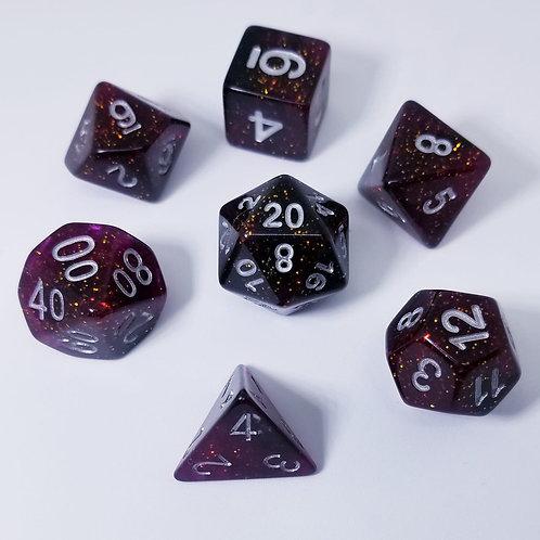 Speckled Purple Polyhedral 7-Die Dice Set