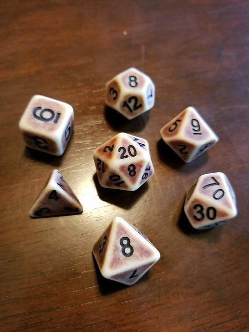 Barbarian Bone Dice Set