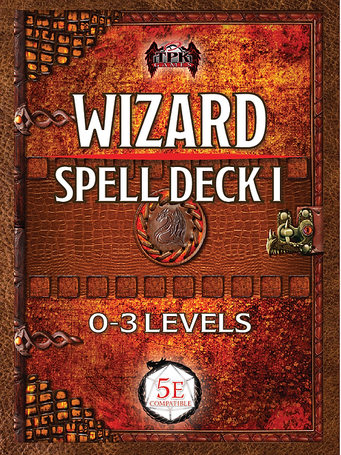 Wizard Spell Card Deck I (5E D&D)