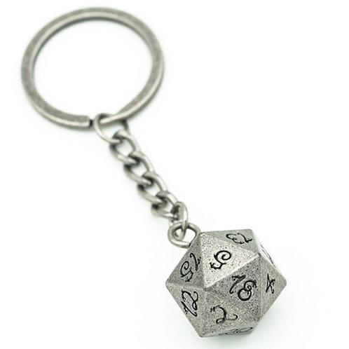 D20 Metal Dice Keychain