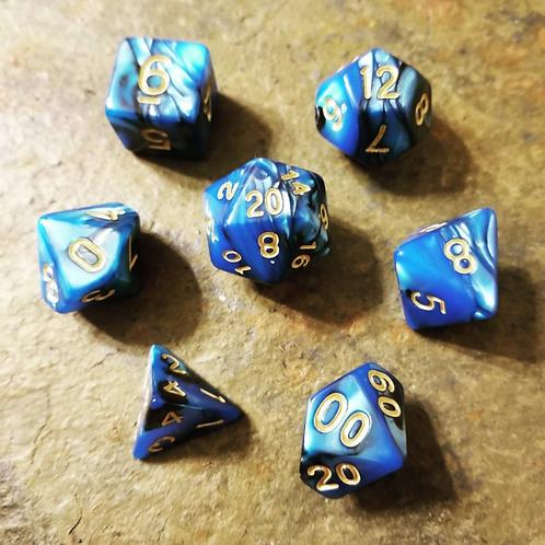 Eldritch Blue Dice Set