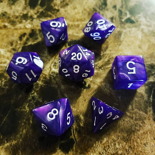 Purple Pearl Dice Set