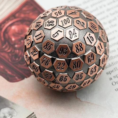 Bronze Solid Metal d100