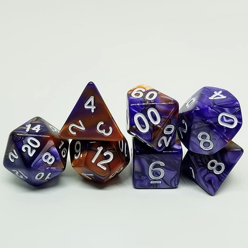 Purple Garnet Dice Set