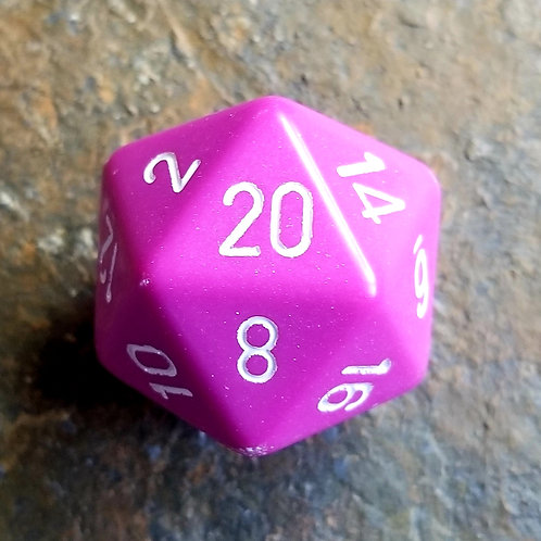 Pink 32mm Giant d20