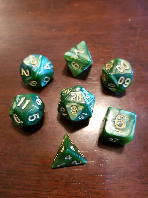 Jade Forest Dice Set
