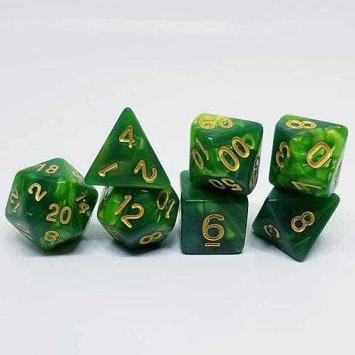 Verdant Poise 7 die set polyhedral dice
